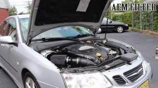 Video AEM Air Filter W/ Heat Shield Vs.Stock Comparison SAAB 9-3 Aero V6 2.8t download MP3, 3GP, MP4, WEBM, AVI, FLV Juli 2018