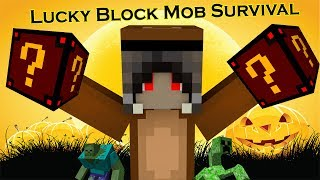 Minecraft Lucky Block Mob Survival #42  ลัคกี้บล็อคแห่งความกลัว น่ากลัวมากๆนะจ๊