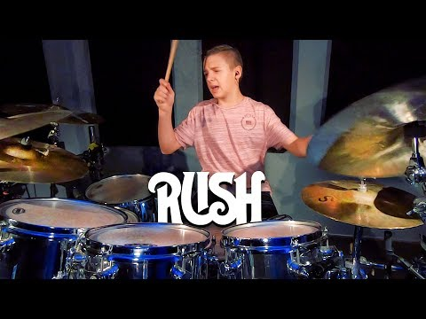 TIME STAND STILL - RUSH (age 12) Cover by Avery Drummer Molek