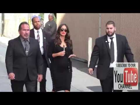 Megan Fox Looking Very Pregnant Outside Jimmy Kimmel Live In Hollywood