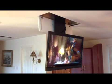 The Home Gurus Tv Ceiling Drop Down Unit