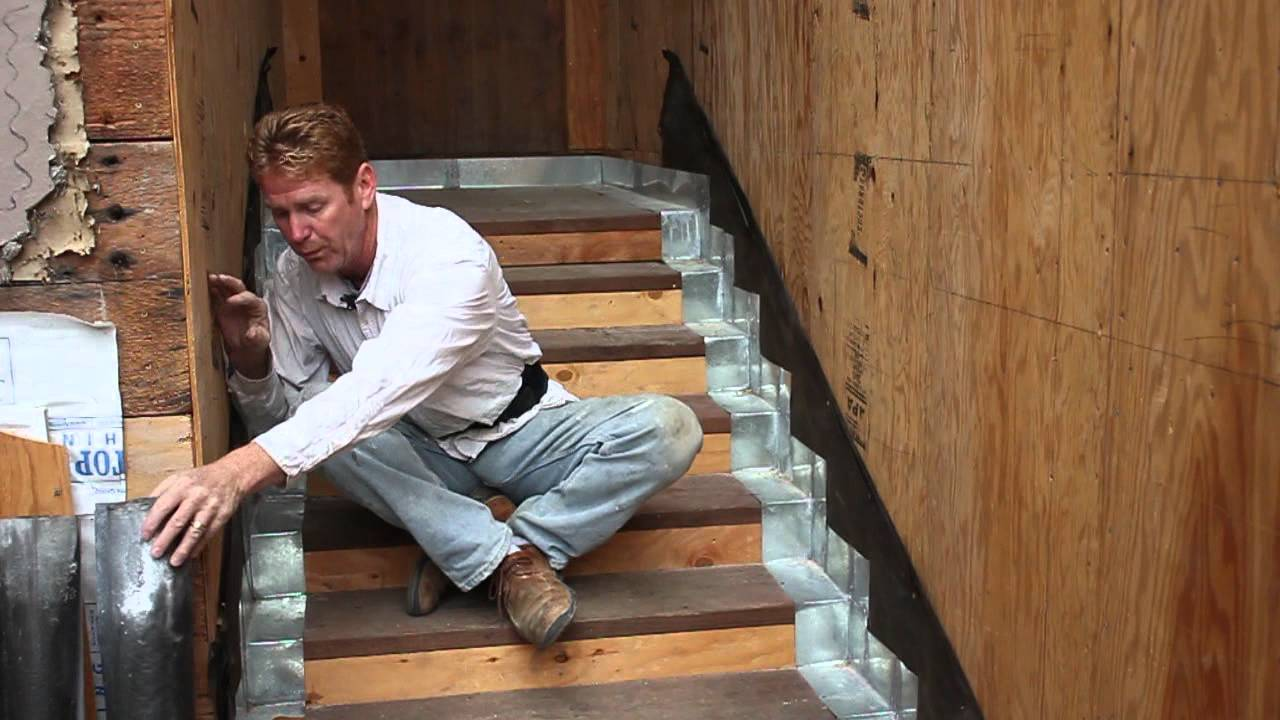 Exterior Wall Flashing : Stair flashing where stairs meet a stucco wall youtube