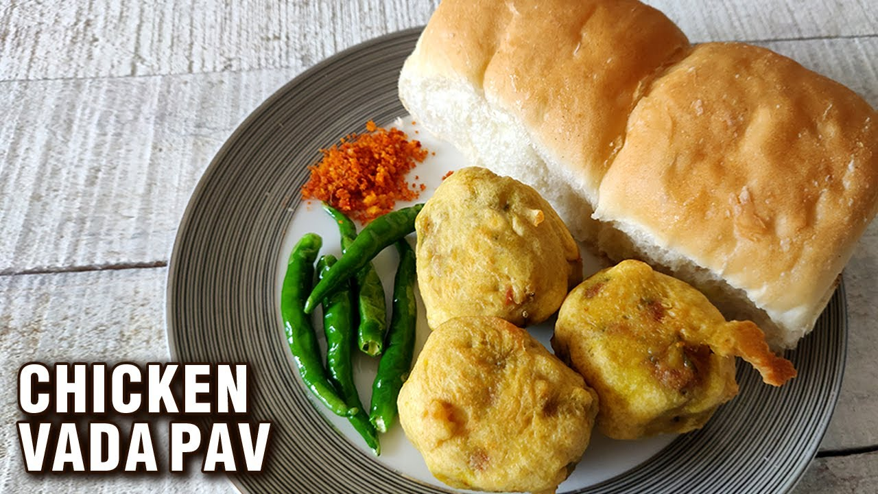 Chicken Vada Pav Recipe | How To Make Chicken Vada | Chicken Snack Recipe By Chef Varun Inamdar