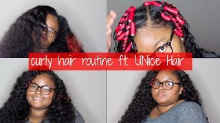 Curly Hair Routine ft. UNice Peruvian Deep Wave | Simplyy Kristin