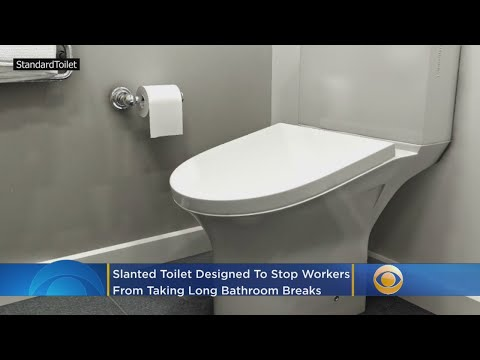 Slanted Toilet Designed to Stop Employees from Taking Long Restroom Breaks
