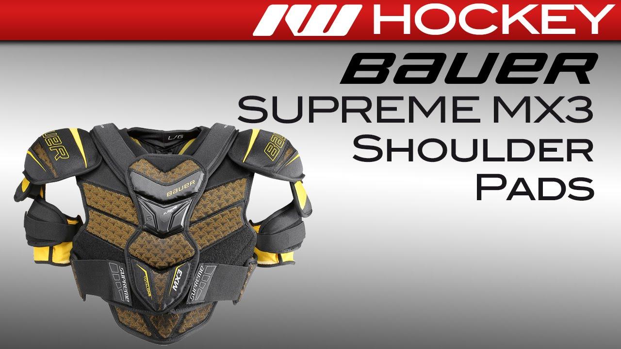 49164d9d8d6 Bauer Supreme MX3 Hockey Shoulder Pads Review - YouTube