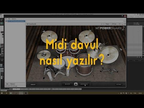 03-Midi davul nasıl yazılır?