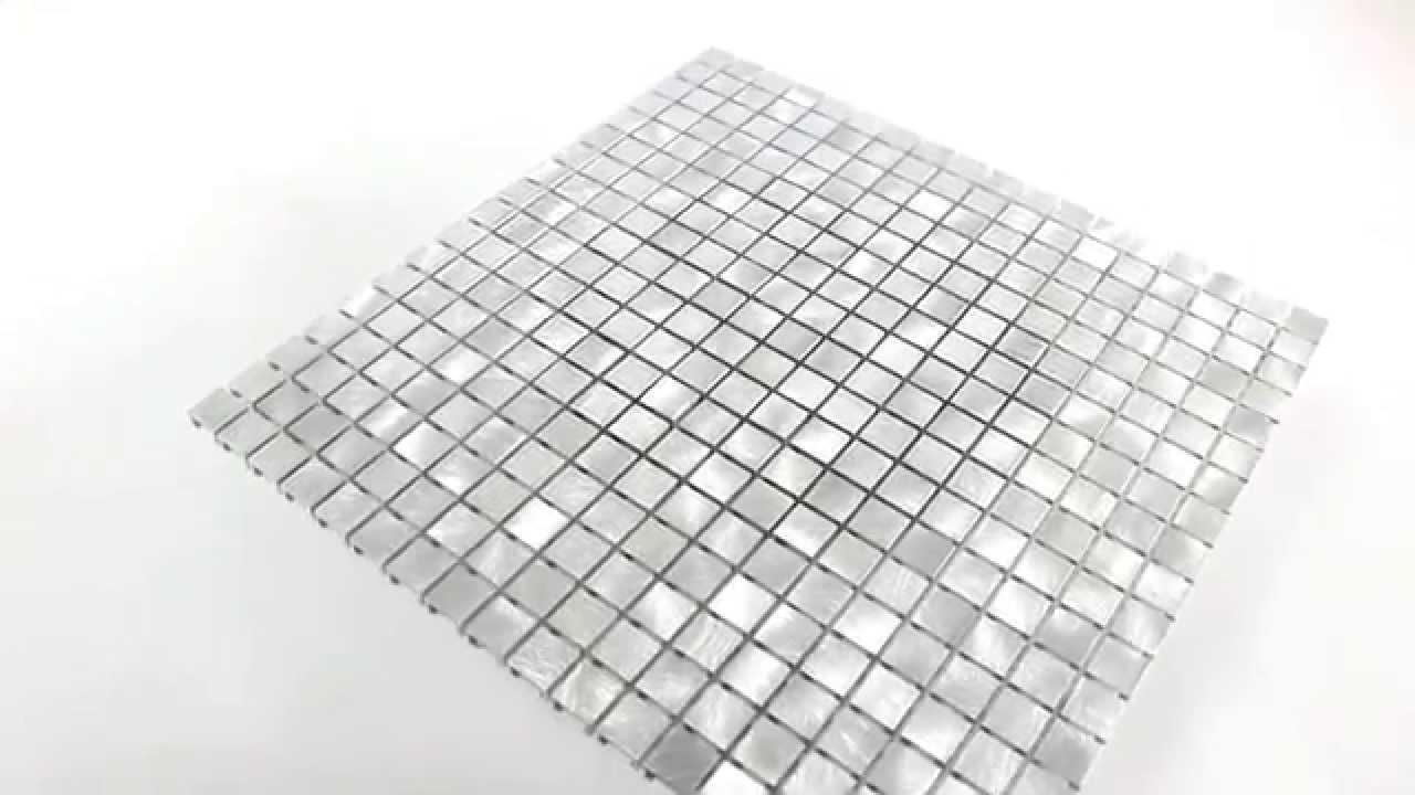 aluminium metall mosaik fliesen mono silber youtube. Black Bedroom Furniture Sets. Home Design Ideas