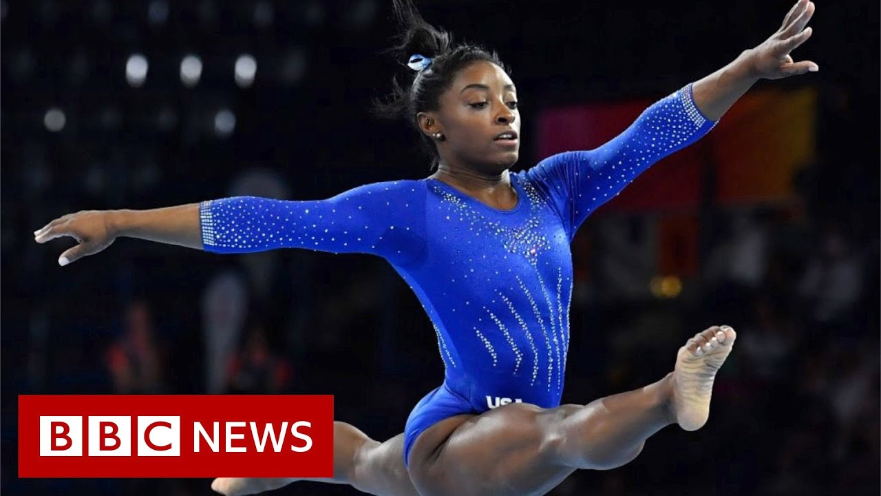 Simone Biles: Young gymnasts comment on her withdrawal - BBC News