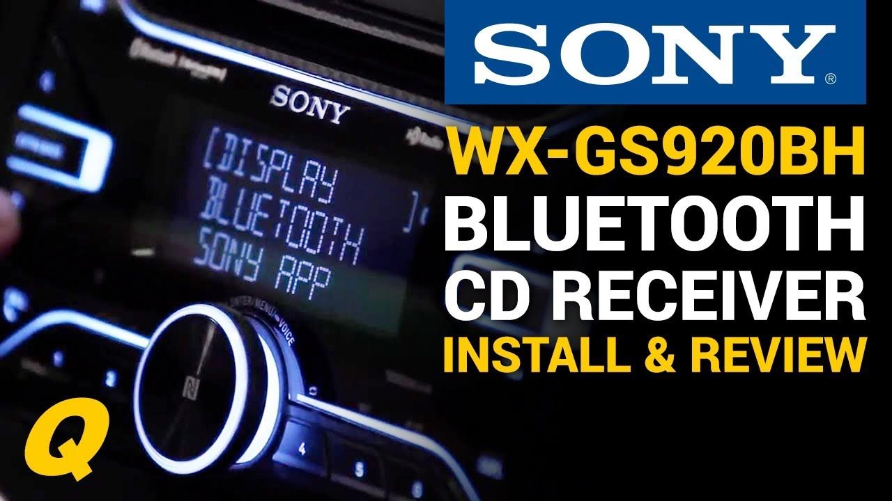 hight resolution of sony wx gs920bh cd receiver with bluetooth install and overview