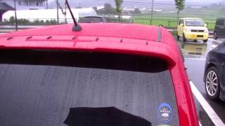 アルトワークス 外から雨天時のシリコンスプレー撥水効果撮影してみまし...