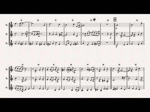 Autumn Leaves - Jazz Classic - Les feuilles mortes - Clarinet Trio