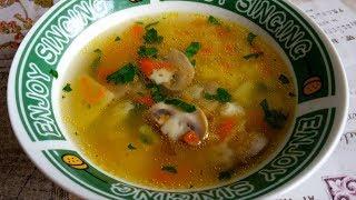 Грибной суп. Экономный и быстрый рецепт из простейших продуктов.
