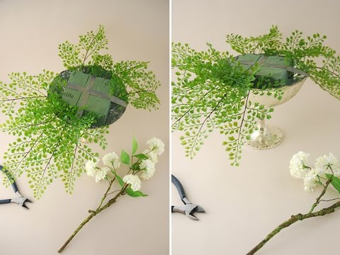 Arrange Flowers Foliage Arrangement Youtube