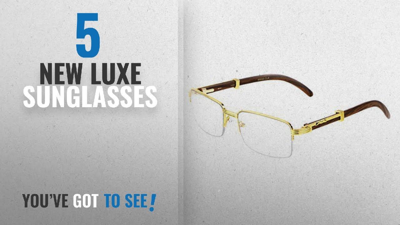 34fe6cf7b3 Top 10 Luxe Sunglasses   Winter 2018    Executive Half Rim ...