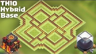 Clash Of Clans Town Hall 10 (TH10) Best Hybrid Base ever [Farming after Big Update]