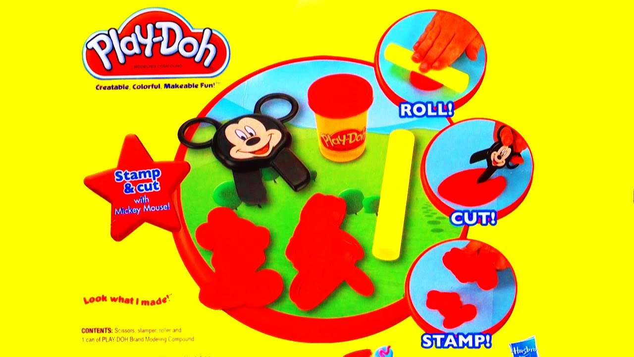 Play Doh Disney Junior Mickey Mouse Clubhouse Stamp Cut Toy Review Cookie Monster Eating