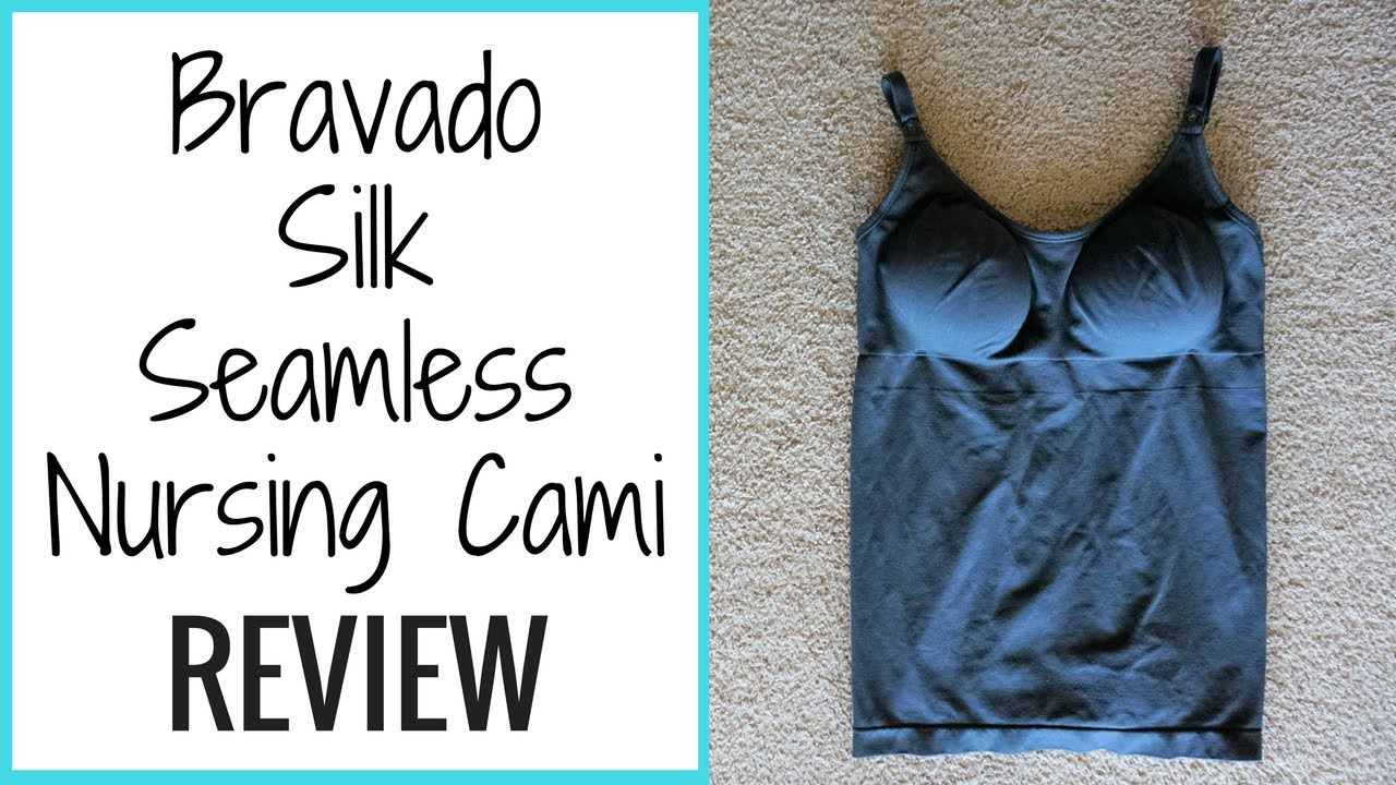 33bfba1a76ece Bravado Silk Seamless Nursing Cami Review // Momma Alia - YouTube