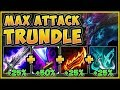 ACTUALLY BREAKING THE GAME! 4.0 ATTACK SPEED TRUNDLE IS 100% ABSURD! - League of Legends Gameplay
