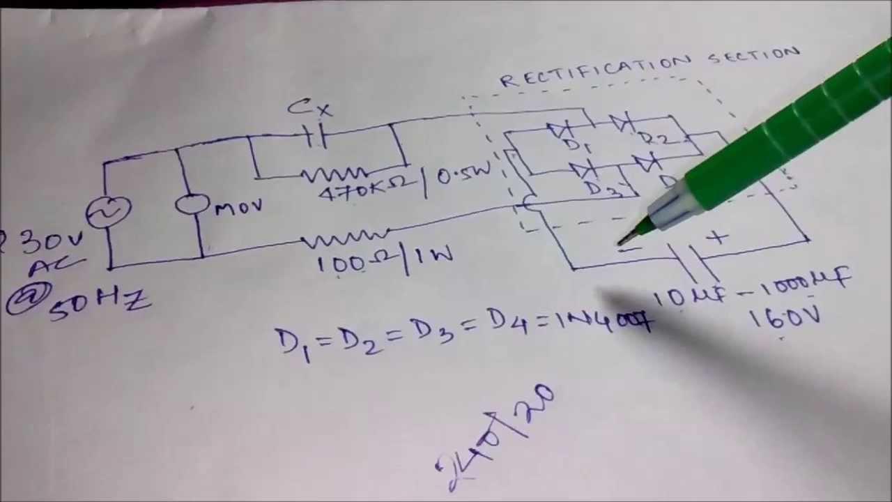 Circuit Diagram Moreover Transformerless Power Supply Circuit Diagram