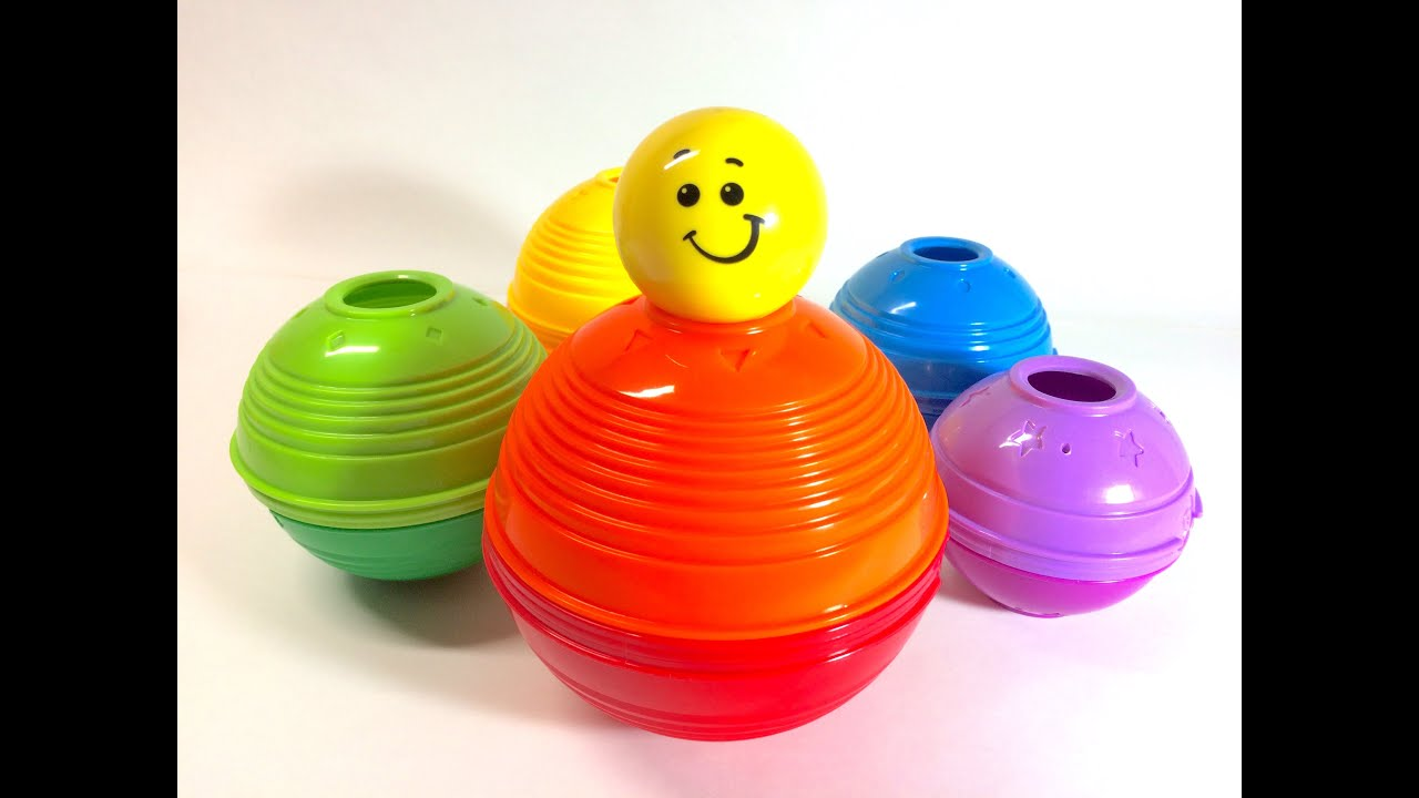 Toys R Us Ball Color : Fisher price stack roll cups learn colors and numbers
