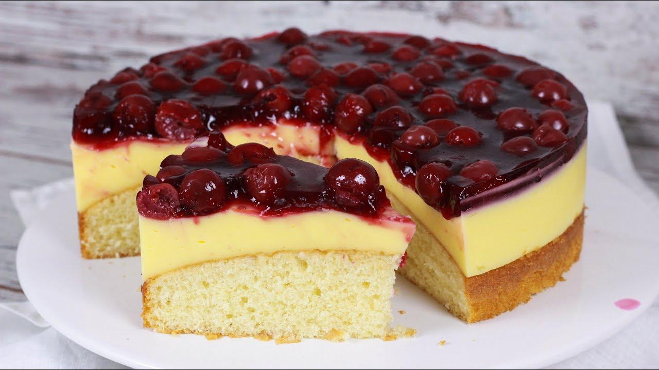 Kirsch Schmand Kuchen Schmandkuchen Mit Kirschen Youtube
