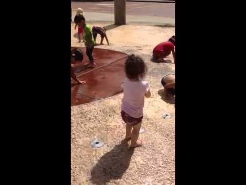 Mio doing water play at Chiba Zoo