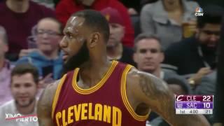 LeBron James Technical Foul   Cavaliers vs Kings   January 13, 2017   2016 17 NBA Season