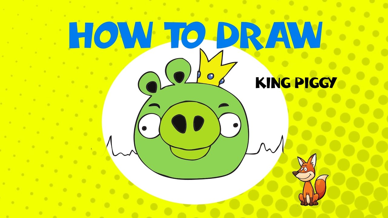 How to draw king piggy step by step drawing tutorial for Step by step drawing websites