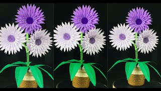 Beautiful Paper Flower | Paper Crafts For School | Paper Flowers Easy | Flower Making With Paper