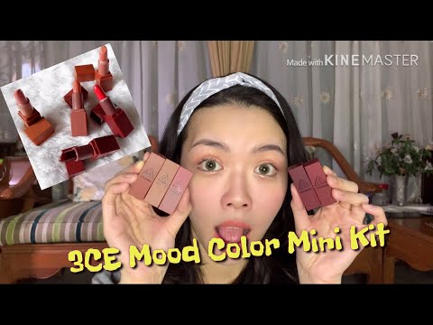 3ce-mood-recipe-lip-color-mini-kit-nude-series-|-review-swatches-score
