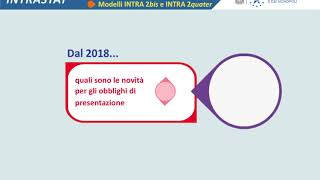 Intrastat  - Novità 2018