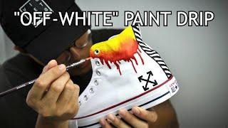 custom off white converse