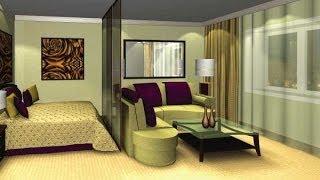 Дизайн угловой спальни с двумя окнами: фото, видео