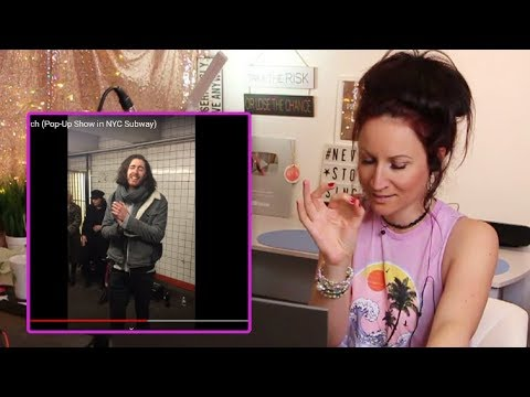 Vocal Coach REACTS to HOZIER - Take Me To Church Pop-Up Show in NYC Subway