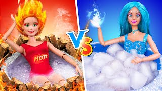 Hot vs Cold Challenge / 12 DIY Barbie Hacks and Crafts