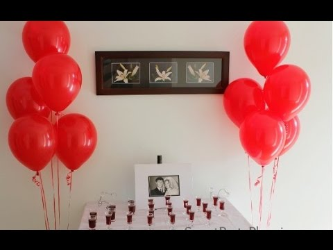 Wedding anniversary decoration ideas at home youtube for Anniversary decoration at home