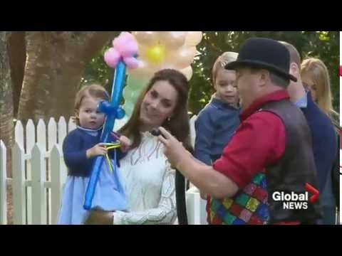 Extended: The Cambridges at the children's party at Government House, Victoria