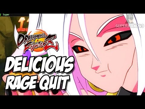 ANDROID 21 CAUSES RAGE QUIT!  - Dragon Ball FighterZ Android 21, Kid Buu & Majin Buu Gameplay