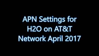 H2o Wireless Apn Settings Network Android Nougat Mvno April Data Lte 4g Working