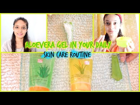 USE ALOEVERA GEL IN YOUR DAILY SKINCARE ROUTINE | ALOEVERA GEL CLEANSER | TONER | SCRUBBER