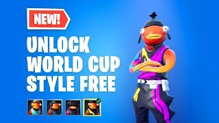 How to UNLOCK Fortnite Fishstick WORLD CUP STYLE *FREE*