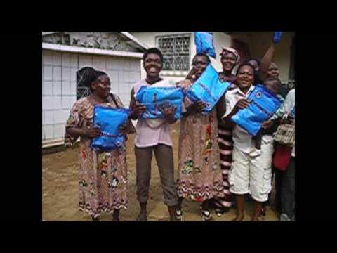 Cameroon, Batombe, Sanag Maritime, Sanaga Valley: Bednet distributions