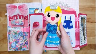 핸드메이드 펠트 북 인형의 집 Handmade felt quietbook Doll house for kids:)#dollhouse