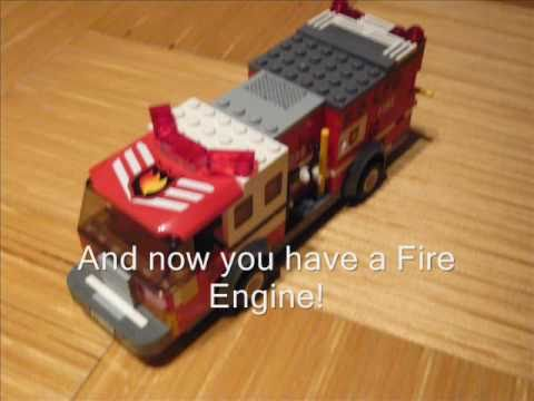 How to make a Lego Fire Engine (100 Subs Special Part 2) - YouTube