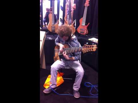 Jedediah Smith Bassist Connor Coram shreds on ten-string bass NAMM 2013