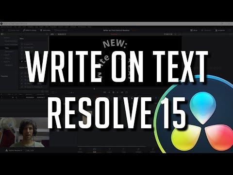 NEW Write On Text Effect | DaVinci Resolve 15 Tutorial