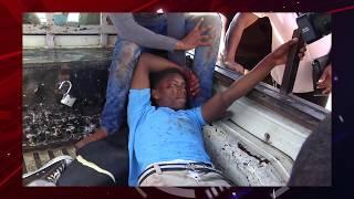 Tres estudiantes se salvan de milagro en un accidente en San Juan