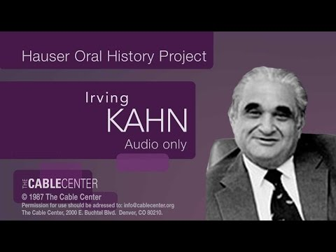 Irving Kahn: Oral and Video History Collection Interview