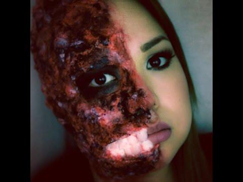 disfraz de mujer quemada